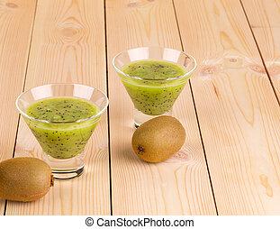 sain, vert, smoothie