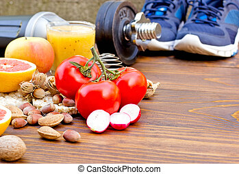 sain, vie, activité, régime, sports