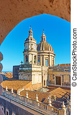 Saint Agatha Cathedral in Catania in Sicily, Italy