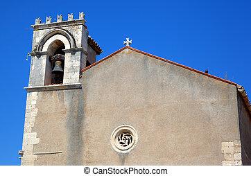 Saint Agostino church in Taormina. Sicily, Italy