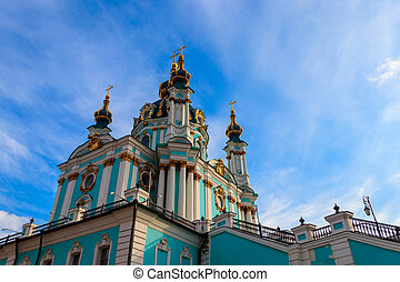 Saint Andrew orthodox church in Kyiv, Ukraine