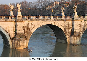 Saint Angel bridge in Rome