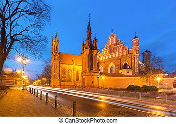 Saint Anne church in Vilnius, Lithuania.