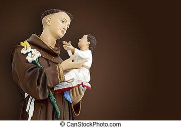 saint Anthony of lisbon and baby Jesus catholic image - ...