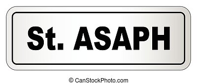Saint Asaph City Nameplate - The city of Saint Asaph...