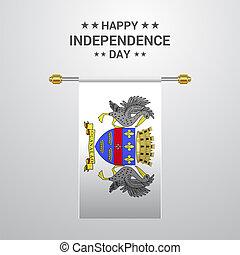 Saint Barthelemy Independence day hanging flag background