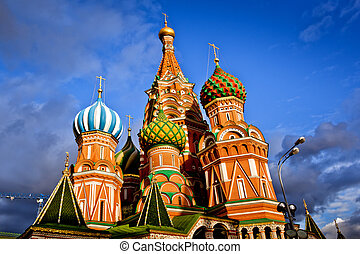 Saint Basil Cathedral in Moscow - Saint Basil Cathedral at ...