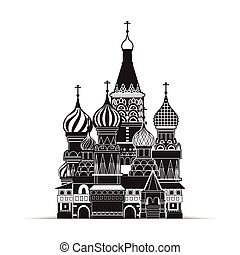 Saint Basil cathedral , Moscow, vector symbol EPS10