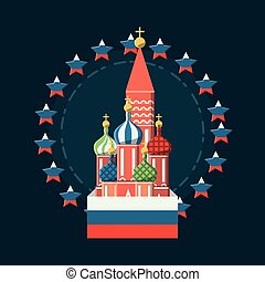 Saint basils cathedral icon - Saint basils cathedral with...