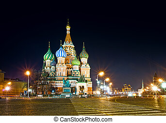 Saint Basil's Cathedral in Moscow - Red Square. Saint Basil'...
