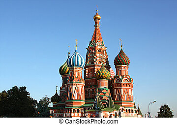 Saint Basil\'s cathedral in Moscow
