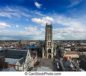 Saint Bavo Cathedral (Sint-Baafskathedraal) and...