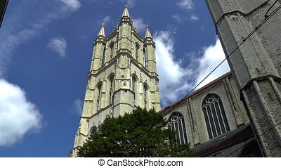 Saint Bavo's Cathedral in Ghent, Gent, Belgium.