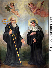 Saint Benedict and Saint Scholastic
