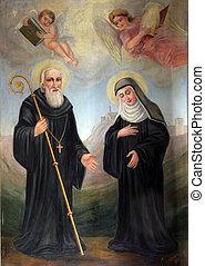 Saint Benedict and Saint Scholastic