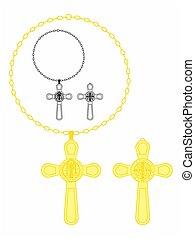 Saint Benedict cross. Symbol of christianity. vector or fully editable illustration.