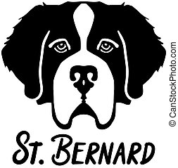 Saint Bernard head with name