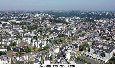 saint-brieuc, vue, ville, région, france, bretagne, aérien, nord-ouest