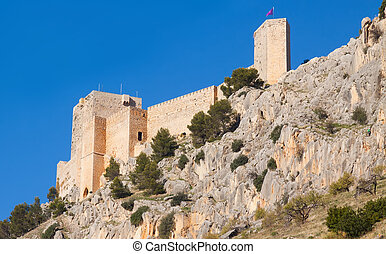 Castle at cliff in Jaen