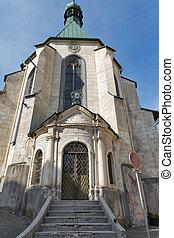 Saint Catherine church in Banska Stiavnica, Slovakia. -...