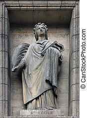 Saint Cecilia, Madeleine church in Paris