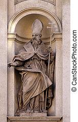 Saint Claude by Guglielmo-Antonio Grandjacquet on the facade...