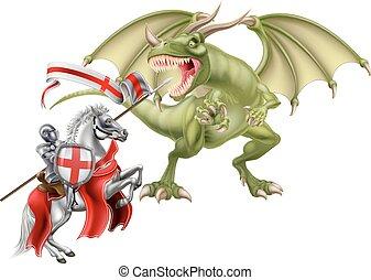saint, combat, dragon, george
