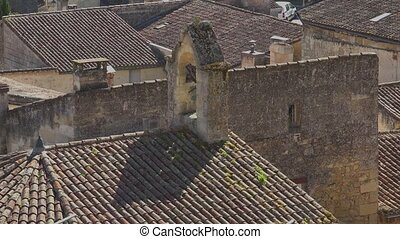 Saint Emilion village - view of the village from the Middle...