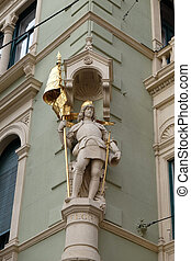Saint Florian, statue at the corner of Jungferngasse and ...
