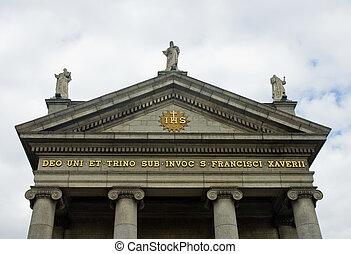 Saint Francis Xavier Church in Dublin, Ireland - Part of...