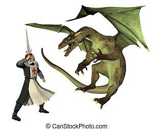 saint, george, et, les, dragon