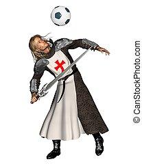 Saint George heading a football - St. George, the Patron...