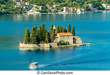 Saint George Island in the Bay of Kotor, Montenegro