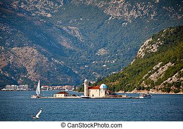 Saint George island in Boka Kotorska Bay, Montenegro