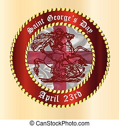 Saint Georges Day Button - Saint George's Day April 25th...