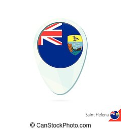 Saint Helena flag location map pin icon on white background....