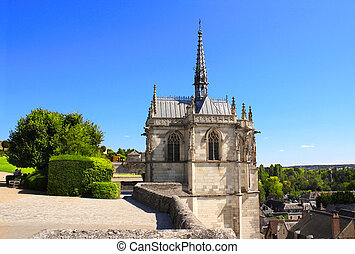 Saint Hubert chapel, Leonardo Da Vinci tomb in Amboise, France