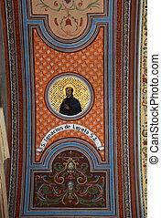 Saint Ignatius of Loyola, fresco on the ceiling of the...