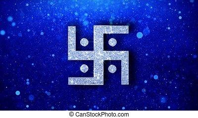 saint, indien, hindou, éclat, incandescent, icône,...