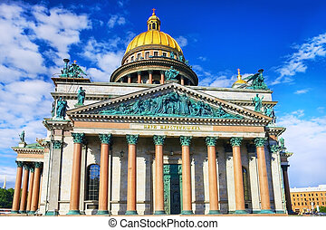 Saint Isaac's Cathedral in St Petersburg, Russia.