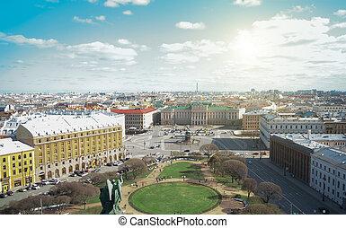 Saint Isaac's Square and Mariinsky Palace in Sankt-Peterburg...