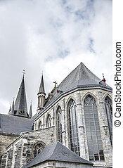 Saint-Jacques church in Tournai, Belgium. - Romanesque ...