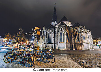 Saint James Cathedral in Ghent - January, 3th, 2017 - Ghent,...