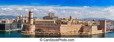 Saint Jean Castle and Cathedral de la Major in Marseille - ...