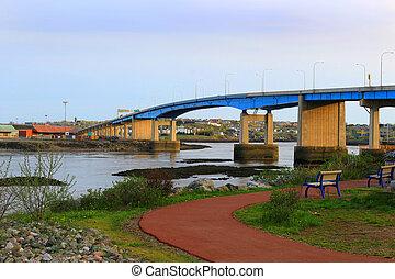 Saint John city bridge