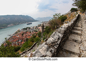 Saint John fortress in Kotor, Montengro