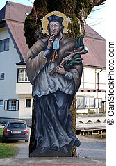 Saint John of Nepomuk in St. Gilgen on Wolfgang See lake, Austria