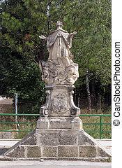 Saint John of Nepomuk statue in Klenovnik, Croatia