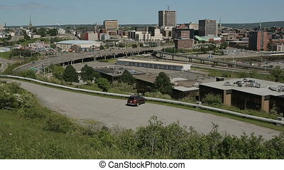Saint John Skyline Wide Angle Pan - Horizontal wide angle...