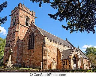 Saint John the Baptist Church in Lea Marston, UK.